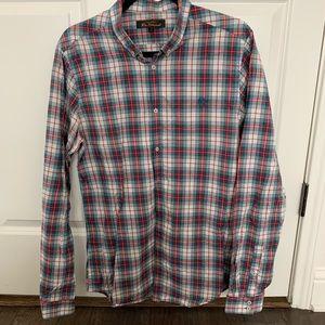 Ben Sherman Men's Plaid Button Up Sz Large